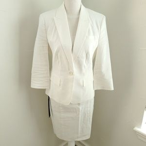 Bebe 3 Piece White Linen Suit 8 NWT